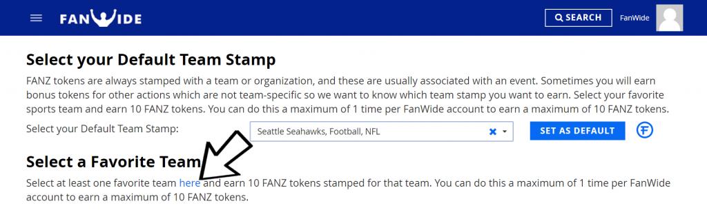 Choosing a Favorite Team