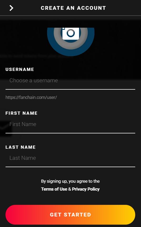 Create an Account on FanChain